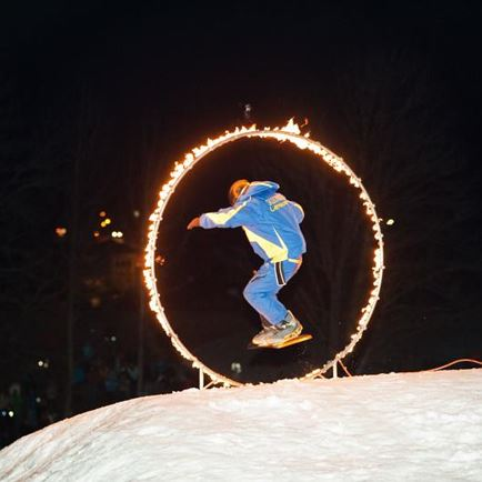 Late-Night-Skishow mit Warm-up